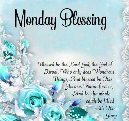 Monday Blessing Flowers with Wish Image HD