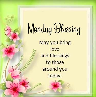 Monday Blessing Message