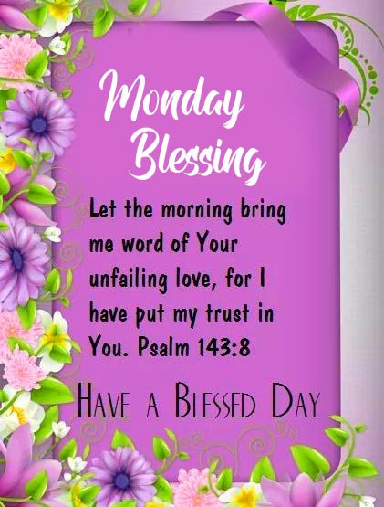 Monday Blessing Morning Message Image