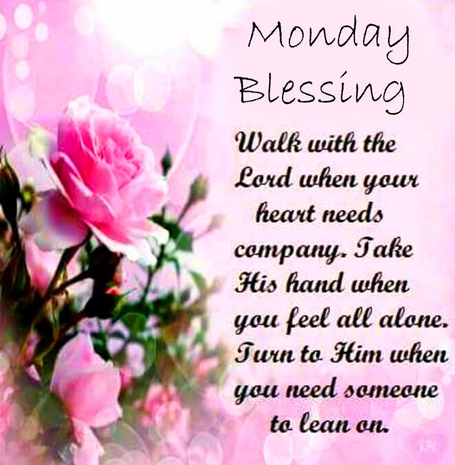 Monday Blessing Rose Message Image