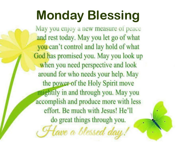 Monday Blessing Wish Pic