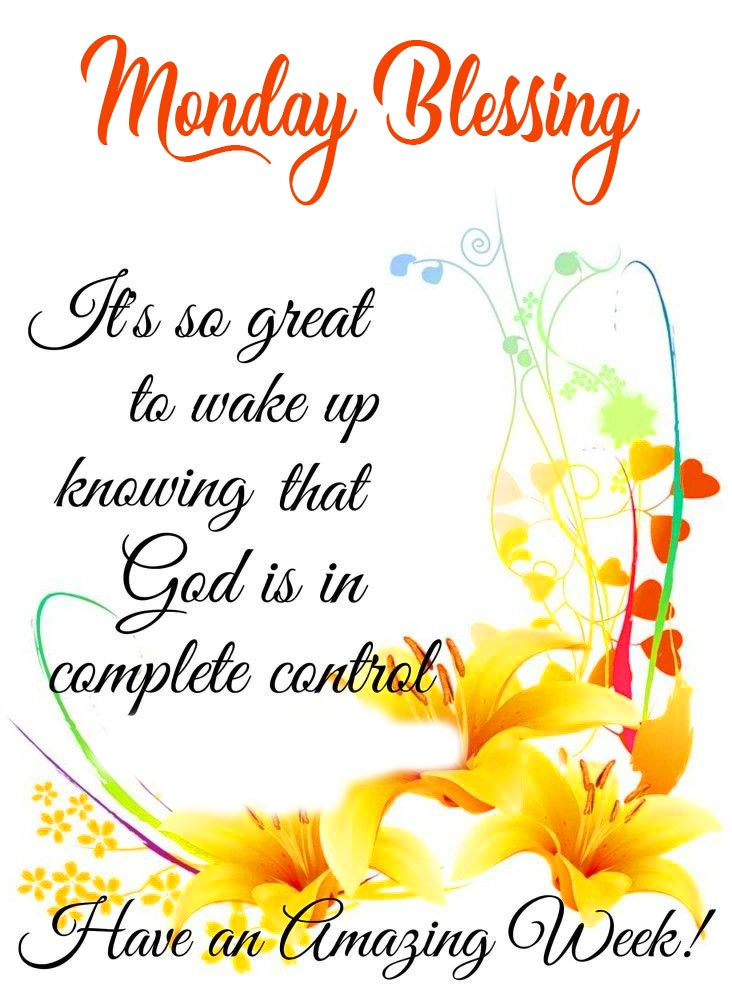 Monday Blessing Wish Picture HD
