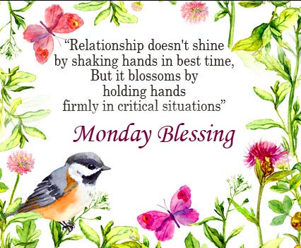 Monday Blessing Wish with Wish Message