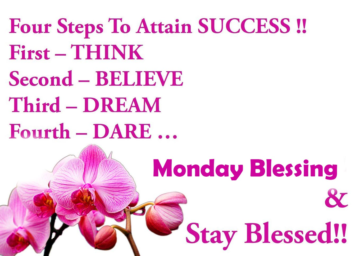 Monday Blessing with Stay Blessed Wish