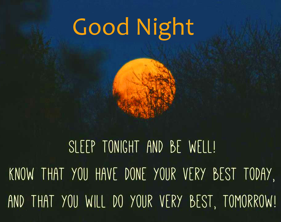 Moon with Quotes Good Night Wish Image