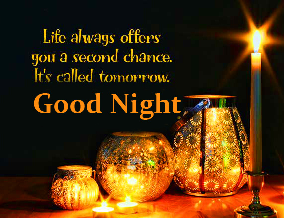 Night Candles with Quotes and Good Night Wish