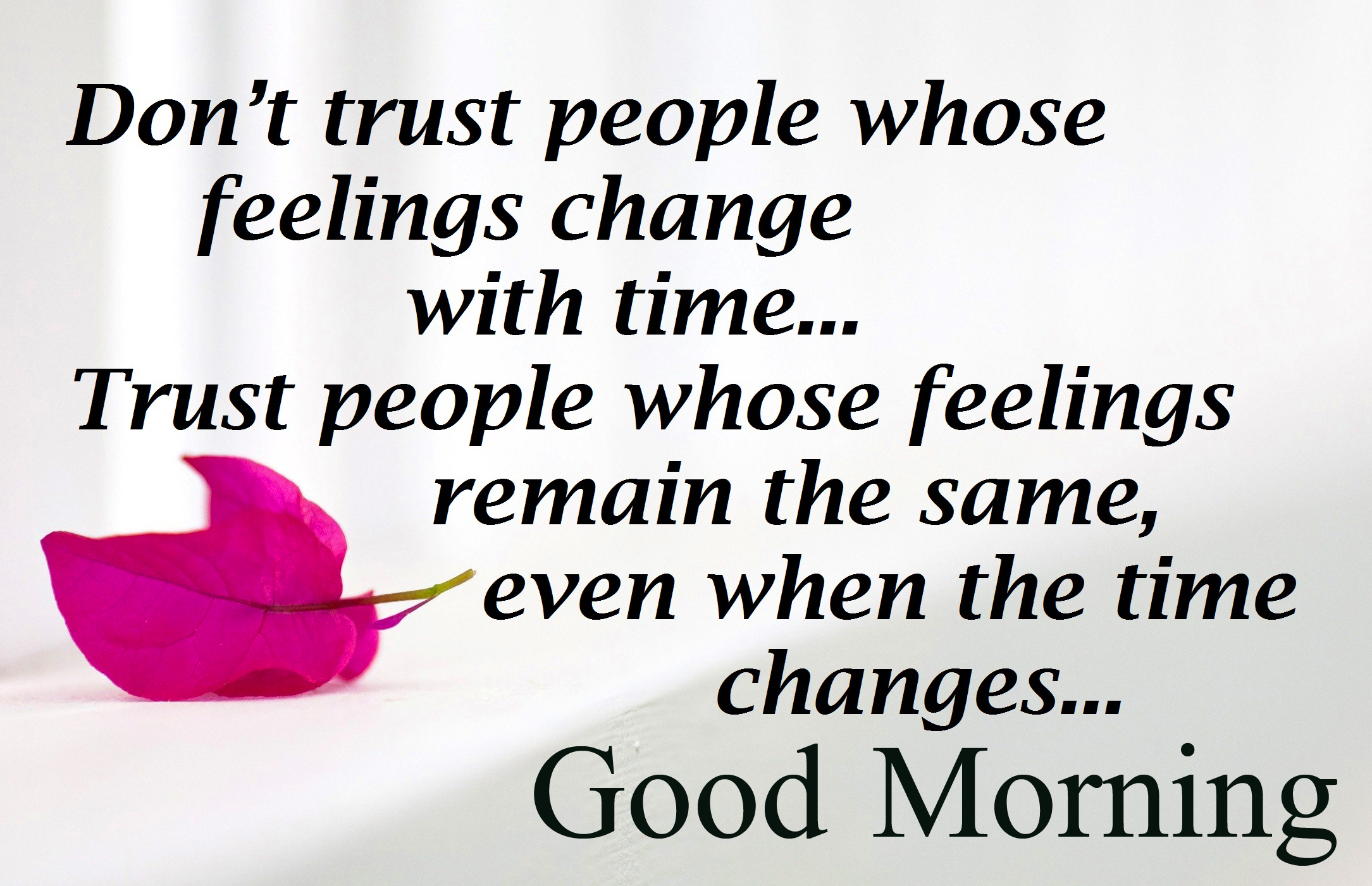 People Trust Quotes Good Morning Image