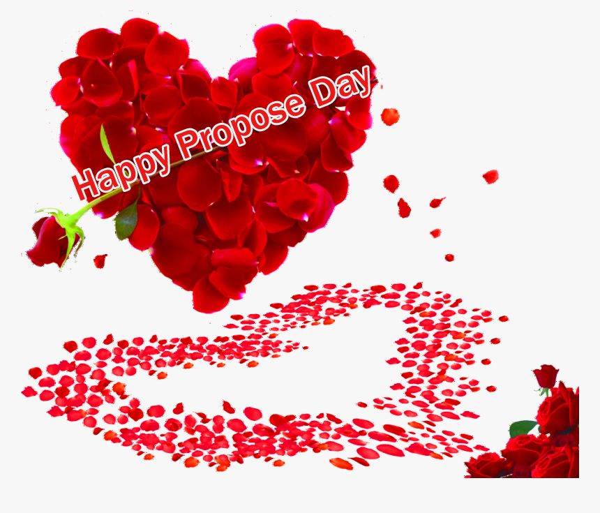 Petals Heart with Happy Propose Day Wish