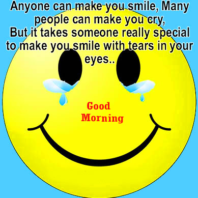 Smiley Face with Quotes and Good Morning Wish
