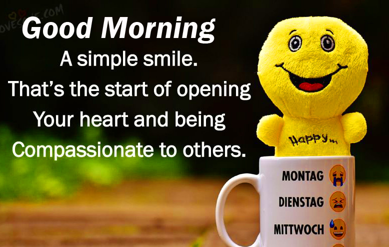Smiling Thought Good Morning Image