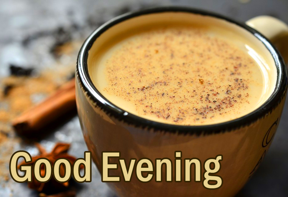 Spiced Tea Cup with Good Evening Wish