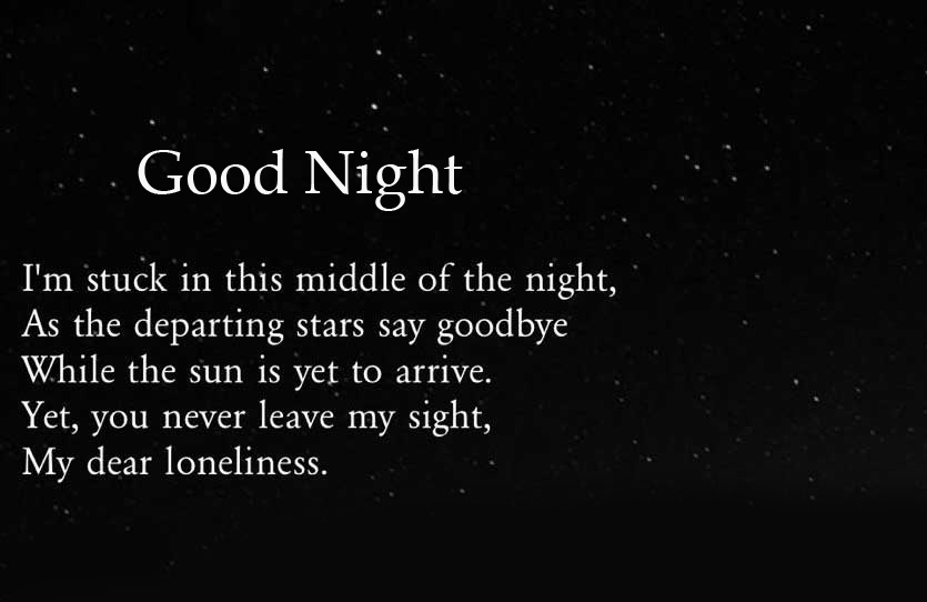 Stars and Moon Quotes Good Night Image