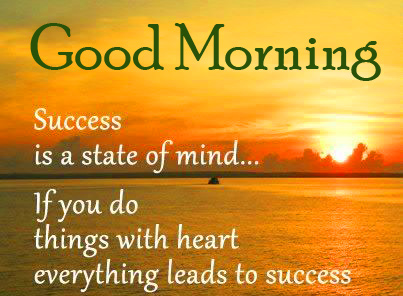 Success Quotes Good Morning Image