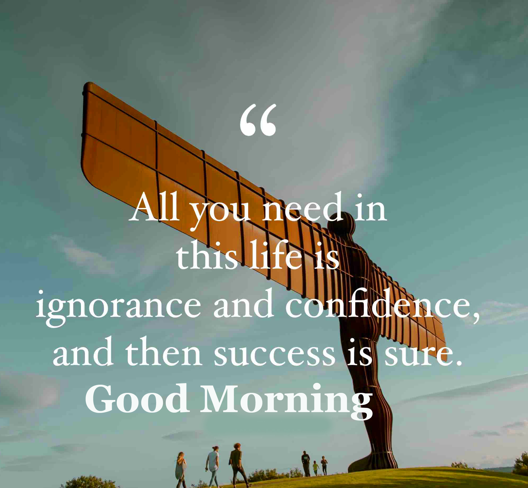 Success Thought Good Morning Image
