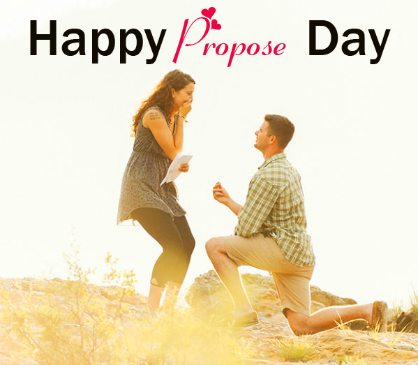 Sweet Couple Happy Propose Day HD Image