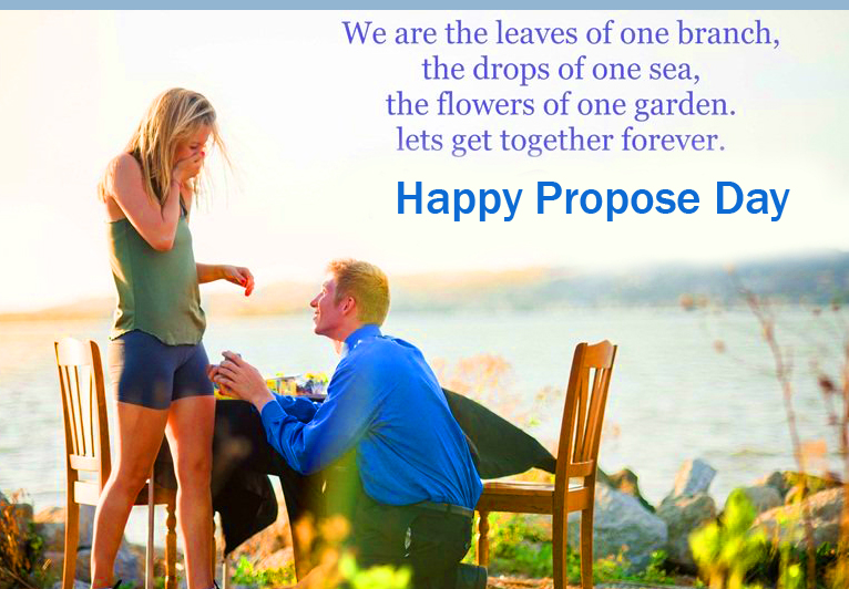 Sweet Couple Happy Propose Day Wish