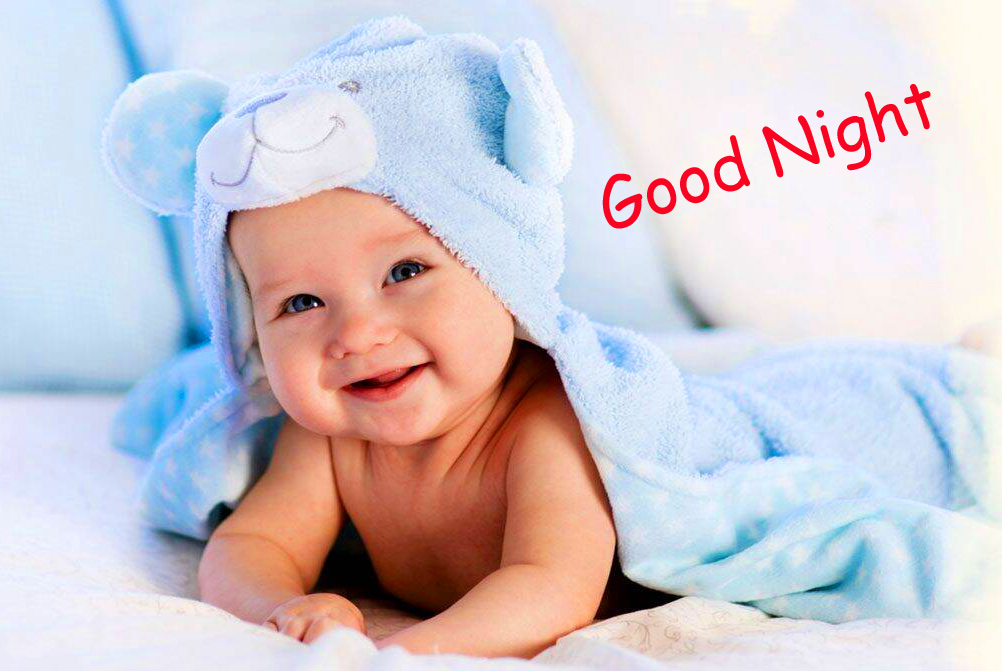 Sweet and Cute Baby Good Night Wallpaper