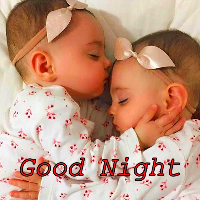 Twins Baby Good Night Picture