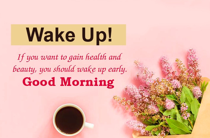 Wake Up Good Morning Flowers Wish Quotes