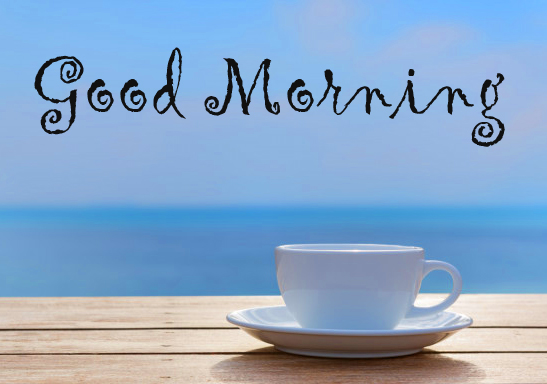White Coffee Cup Good Morning Image