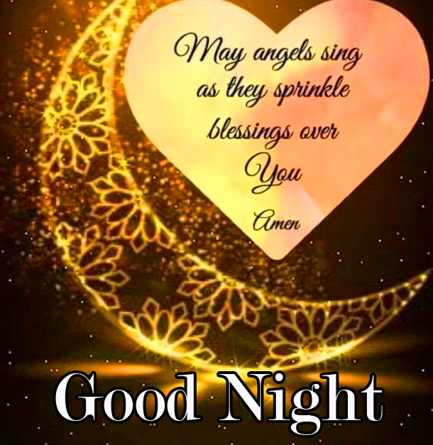 Angel Blessing Quote with Good Night Wish