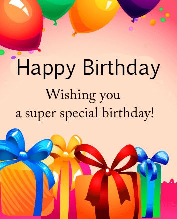 Animated Gifts Happy Birthday Message Image