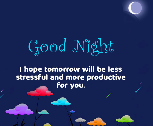 Animated Good Night Greeting Picture