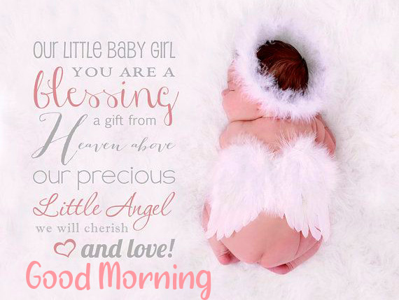 Baby Quotes Pic with Good Morning Wish