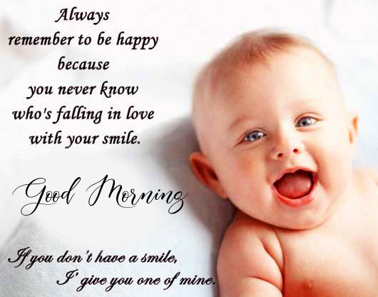 Baby Quotes with Lovely Good Morning Wish