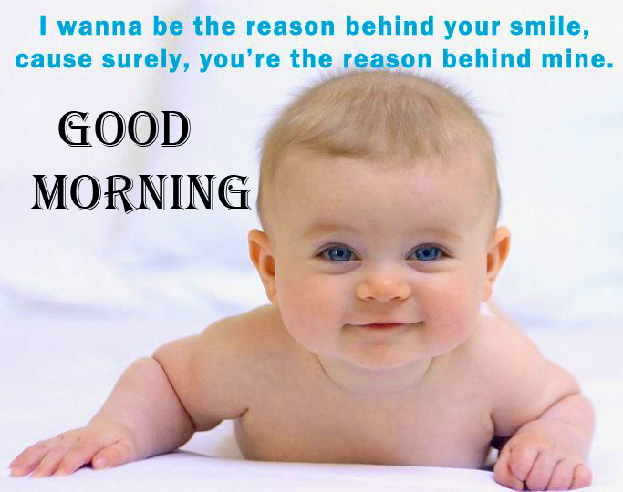 Beautiful Baby Good Morning Quote Image