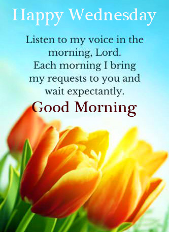 Beautiful Blessing Message with Good Morning Happy Wednesday Wish