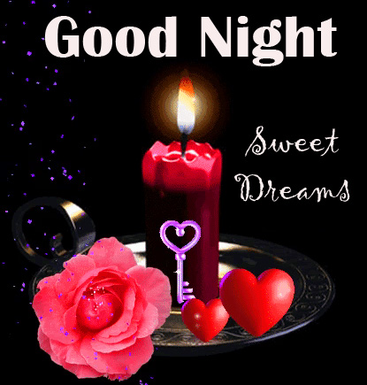 Beautiful Candle Good Night Sweet Dreams Picture