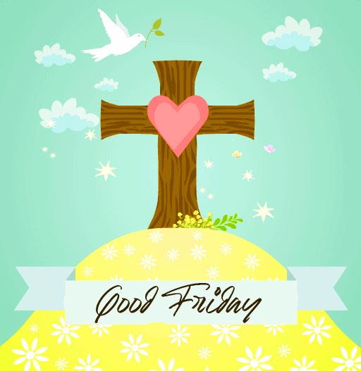 Beautiful Dove and Cross Good Friday Picture