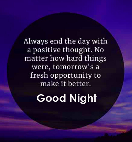 Beautiful English Quotes Good Night Picture