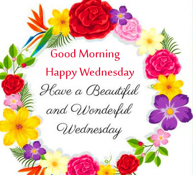 Beautiful Good Morning Happy Wednesday Blessing Picture
