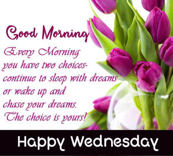 Beautiful Morning Blessing Picture with Good Morning Happy Wednesday Wish