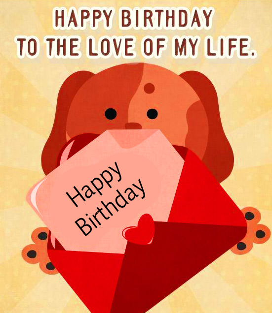 Beautiful and Cute Animated Happy Birthday Card Image