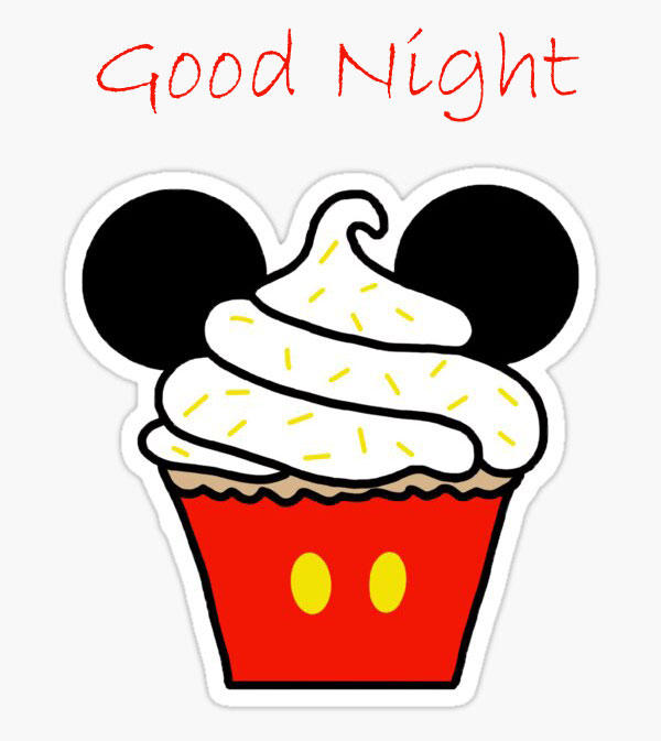 Best Mickey Mouse Cupcake with Good Night Wish