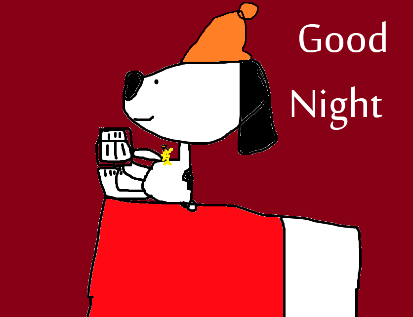 Best and Latest Snoopy Good Night Image