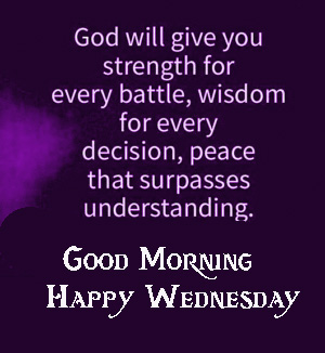 Bible Blessing Good Morning Happy Wednesday Image