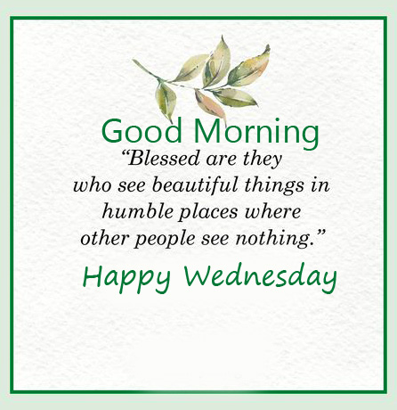 Blessed Good Morning Happy Wednesday Image