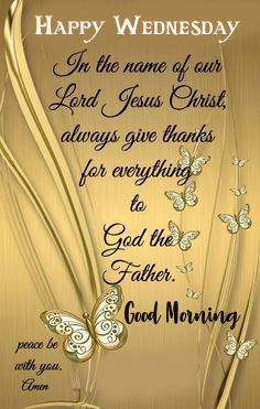 Blessing Message Good Morning Happy Wednesday Wishing Image