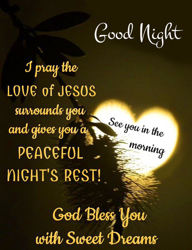 Blessing Quote Pic with Good Night Wish