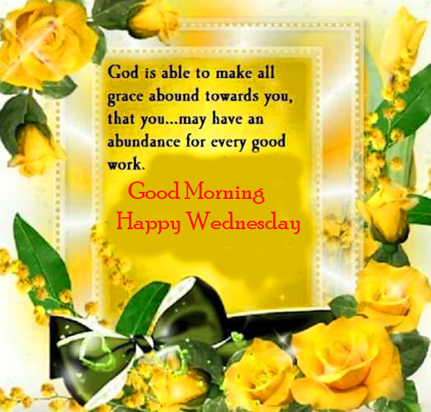 Blessing Quotes with Good Morning Happy Wednesday Wish