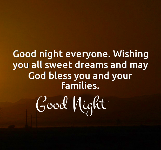 Blessing Quotes with Good Night Wishing