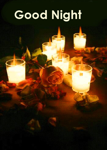 Candles with Good Night Greeting