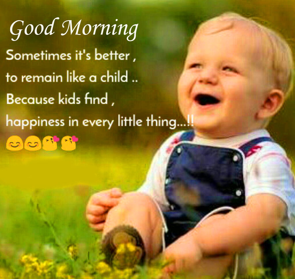 Cheerful Baby Quote Good Morning Image