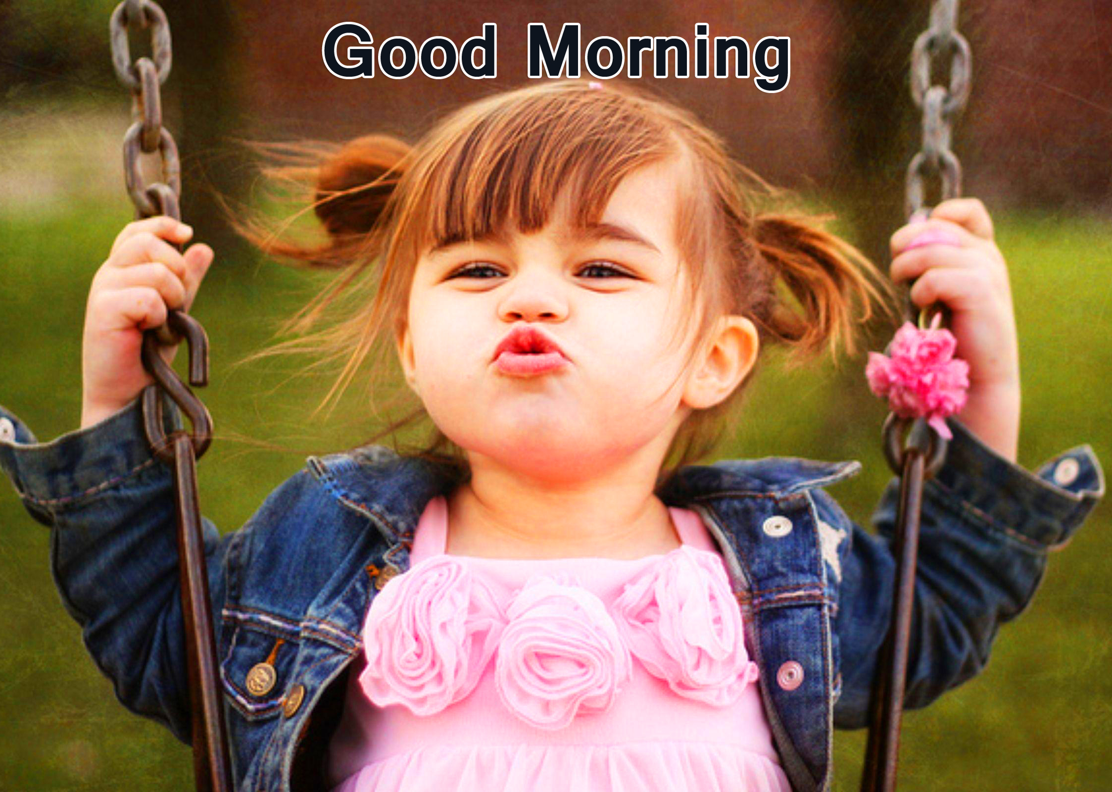Cheerful Kid Good Morning Picture