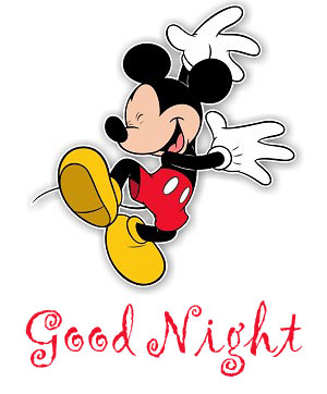 Cheerful and Happy Mickey Mouse Good Night Image