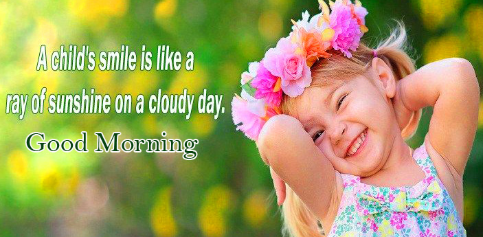 Child Baby Quotes Good Morning Image